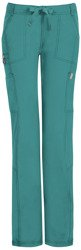 Antybakteryjne damskie spodnie medyczne zielony teal blue Code Happy 46000A