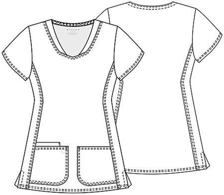 Błękitna bluza medyczna damska Heartsoul 20710