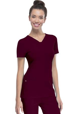 Bluza medyczna damska Heartsoul 20710 - czerwone wino